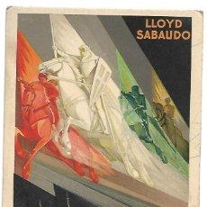 Líneas de navegación: PS0027 POSTAL PUBLICITARIA LLOYD SABAUDO. SIN CIRCULAR. Lote 199339660