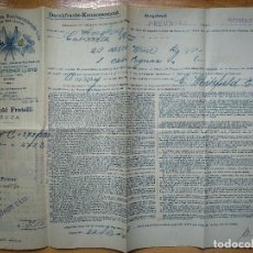 Linhas de navegação: DOCUMENTO. POLIZA. CONOCIMIENTO DE EMBARQUE. NORDDEUTSCHER LLOYD, AÑO 1904, LINEA ASIA. Lote 199397431