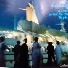 Linee di navigazione: PR-1940. M.S. RENAISSANCE. FOURTH ANNUAL MUSIC FESTIVAL ABOARD IN THE MEDITERRANEAN. SEPTEMBER 1971.. Lote 200110036