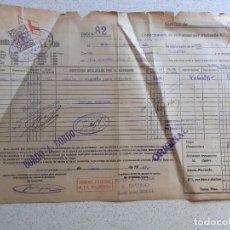 Linhas de navegação: CONOCIMIENTO DE EMBARQUE. FLETE, COMPAÑÍA MARTÍTIMA FRUTERA. 1947. SELLO MARTÍNEZ DE PINILLA´, CÁDIZ. Lote 202855775