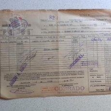 Linhas de navegação: CONOCIMIENTO DE EMBARQUE. FLETE, COMPAÑÍA MARTÍTIMA FRUTERA. 1947. SELLO MARTÍNEZ DE PINILLA´, CÁDIZ. Lote 202855878