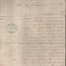 Líneas de navegación: ACTA DE SALVAMENTO- VAPOR SANTANDER- EN LA MAR LATITUD LOMGITUD DE SAN FERNANDO.-19 MAYO 1881, LEER. Lote 204073062