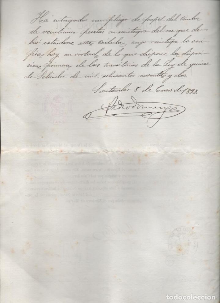 Líneas de navegación: CRUZ DE PRIMERA CLASE AL D. FCO. JAUREGUIZAR. SALVAR VIDA BUQUE AMARICANO ANGLADER-ABRIL 1882,LEER - Foto 2 - 204075221