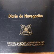 Líneas de navegación: DIARIO DE NAVEGACIÓN. Lote 204479402