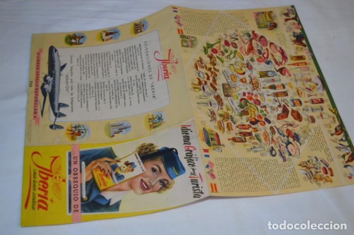 Líneas de navegación: IBERIA años 50/60 - Lote antiguos documentos / catálogos pasajeros - Muy curiosos y variados ¡Mira! - Foto 3 - 198845186