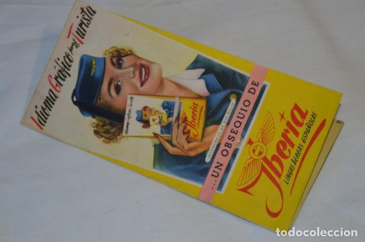 Líneas de navegación: IBERIA años 50/60 - Lote antiguos documentos / catálogos pasajeros - Muy curiosos y variados ¡Mira! - Foto 2 - 198845186