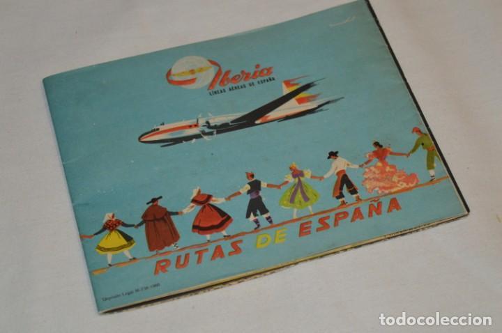 Líneas de navegación: IBERIA años 50/60 - Lote antiguos documentos / catálogos pasajeros - Muy curiosos y variados ¡Mira! - Foto 6 - 198845186