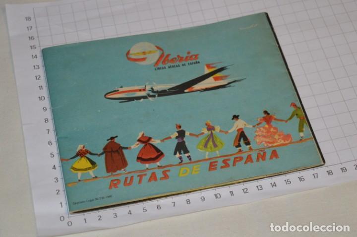 Líneas de navegación: IBERIA años 50/60 - Lote antiguos documentos / catálogos pasajeros - Muy curiosos y variados ¡Mira! - Foto 9 - 198845186