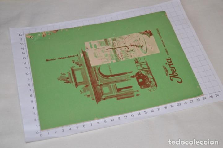 Líneas de navegación: IBERIA años 50/60 - Lote antiguos documentos / catálogos pasajeros - Muy curiosos y variados ¡Mira! - Foto 13 - 198845186