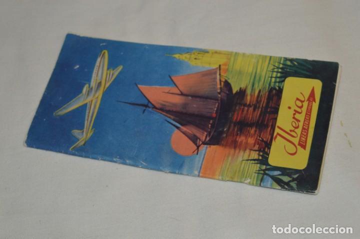 Líneas de navegación: IBERIA años 50/60 - Lote antiguos documentos / catálogos pasajeros - Muy curiosos y variados ¡Mira! - Foto 17 - 198845186