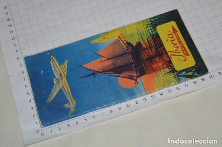 Líneas de navegación: IBERIA años 50/60 - Lote antiguos documentos / catálogos pasajeros - Muy curiosos y variados ¡Mira! - Foto 20 - 198845186