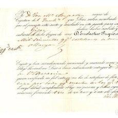 Líneas de navegación: CONOCIMIENTO EMBARQUE GOLETA PAQUITA BILBAO A GIJON. 1600 QUINTALES MINERAL DE OLLARGAN 1863. Lote 205799316