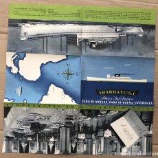 Líneas de navegación: CATALOGO PUBLICITARIO YBARRA Y CIA. LINEA A SUD-AMERICA. C. 1960. Lote 205803331