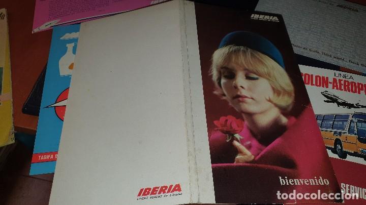 Líneas de navegación: Varios impresos de iberia, carpetilla, publicidad, idioma grafico, carta sobre, emt linea - Foto 2 - 206515461