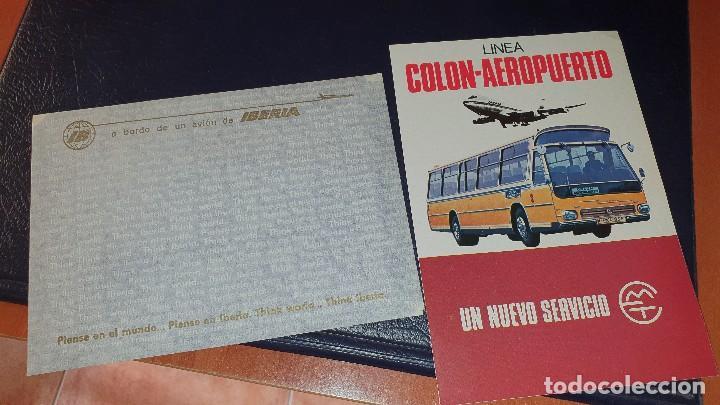 Líneas de navegación: Varios impresos de iberia, carpetilla, publicidad, idioma grafico, carta sobre, emt linea - Foto 4 - 206515461