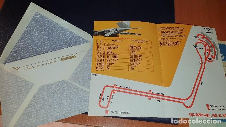 Líneas de navegación: Varios impresos de iberia, carpetilla, publicidad, idioma grafico, carta sobre, emt linea - Foto 5 - 206515461