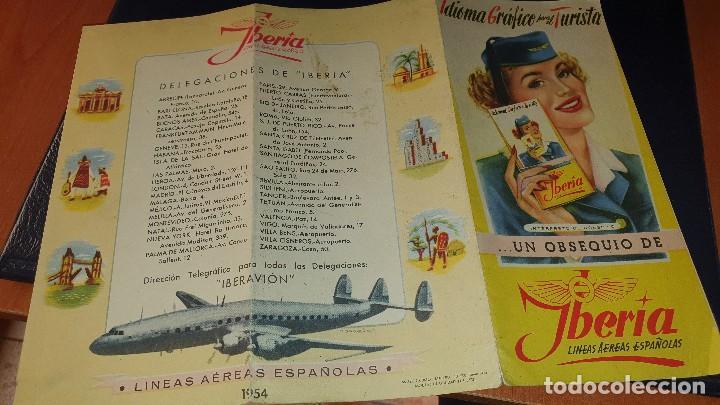 Líneas de navegación: Varios impresos de iberia, carpetilla, publicidad, idioma grafico, carta sobre, emt linea - Foto 6 - 206515461