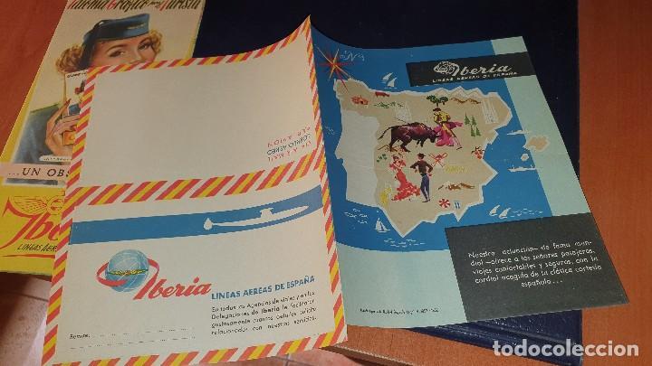 Líneas de navegación: Varios impresos de iberia, carpetilla, publicidad, idioma grafico, carta sobre, emt linea - Foto 9 - 206515461