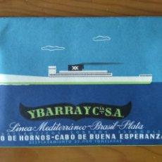 Linhas de navegação: YBARRA Y CÍA. LÍNEA BRASIL-PLATA. CABO HORNOS-NUEVA ESPERANZA. DATOS DEL BARCO. Lote 208076388