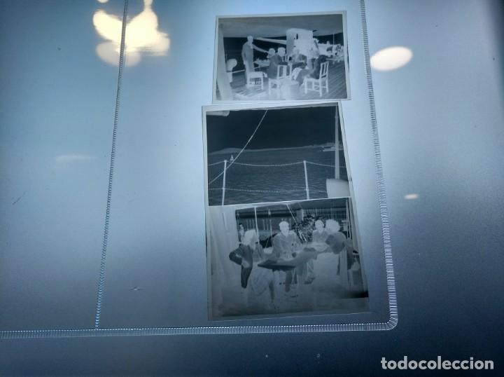 Líneas de navegación: Negativos fotográficos de un viaje en yate de recreo o similar. Años 1920 aprox. - Foto 3 - 209155935