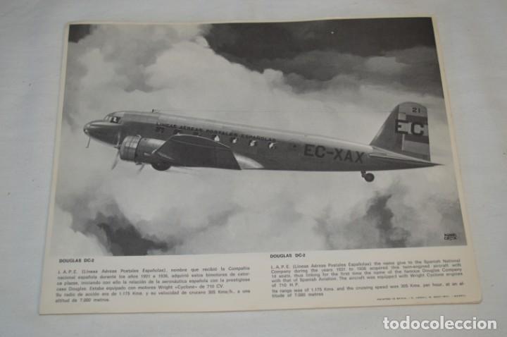 Líneas de navegación: IBERIA años 70 - 16 láminas / imágenes diferentes - Colección de AVIONES HISTÓRICOS B/N ¡Mira! - Foto 2 - 209702420