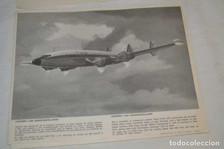 Líneas de navegación: IBERIA años 70 - 16 láminas / imágenes diferentes - Colección de AVIONES HISTÓRICOS B/N ¡Mira! - Foto 3 - 209702420