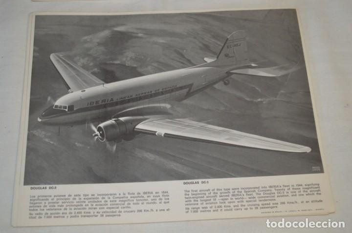 Líneas de navegación: IBERIA años 70 - 16 láminas / imágenes diferentes - Colección de AVIONES HISTÓRICOS B/N ¡Mira! - Foto 4 - 209702420