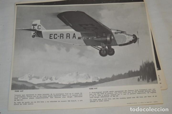 Líneas de navegación: IBERIA años 70 - 16 láminas / imágenes diferentes - Colección de AVIONES HISTÓRICOS B/N ¡Mira! - Foto 5 - 209702420