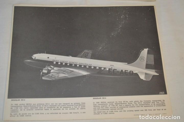 Líneas de navegación: IBERIA años 70 - 16 láminas / imágenes diferentes - Colección de AVIONES HISTÓRICOS B/N ¡Mira! - Foto 6 - 209702420