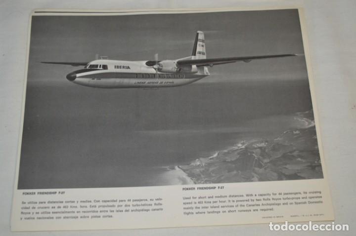 Líneas de navegación: IBERIA años 70 - 16 láminas / imágenes diferentes - Colección de AVIONES HISTÓRICOS B/N ¡Mira! - Foto 7 - 209702420