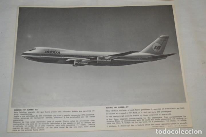 Líneas de navegación: IBERIA años 70 - 16 láminas / imágenes diferentes - Colección de AVIONES HISTÓRICOS B/N ¡Mira! - Foto 8 - 209702420