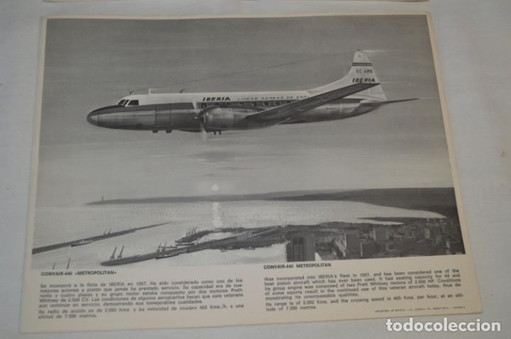 Líneas de navegación: IBERIA años 70 - 16 láminas / imágenes diferentes - Colección de AVIONES HISTÓRICOS B/N ¡Mira! - Foto 9 - 209702420