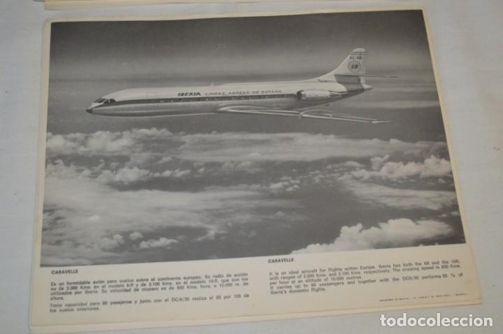 Líneas de navegación: IBERIA años 70 - 16 láminas / imágenes diferentes - Colección de AVIONES HISTÓRICOS B/N ¡Mira! - Foto 10 - 209702420