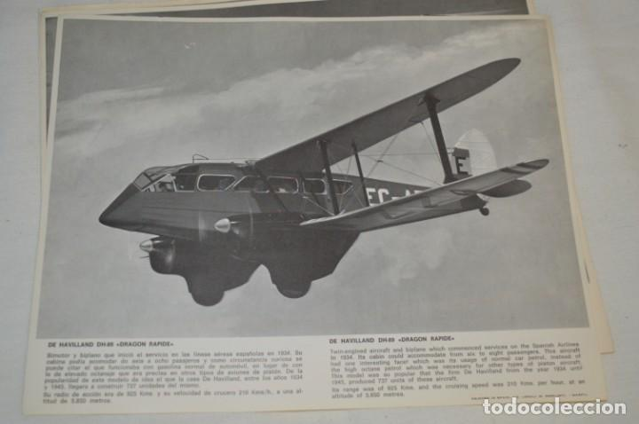 Líneas de navegación: IBERIA años 70 - 16 láminas / imágenes diferentes - Colección de AVIONES HISTÓRICOS B/N ¡Mira! - Foto 11 - 209702420