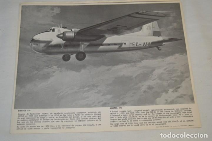 Líneas de navegación: IBERIA años 70 - 16 láminas / imágenes diferentes - Colección de AVIONES HISTÓRICOS B/N ¡Mira! - Foto 12 - 209702420
