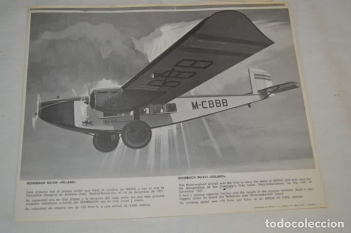 Líneas de navegación: IBERIA años 70 - 16 láminas / imágenes diferentes - Colección de AVIONES HISTÓRICOS B/N ¡Mira! - Foto 13 - 209702420