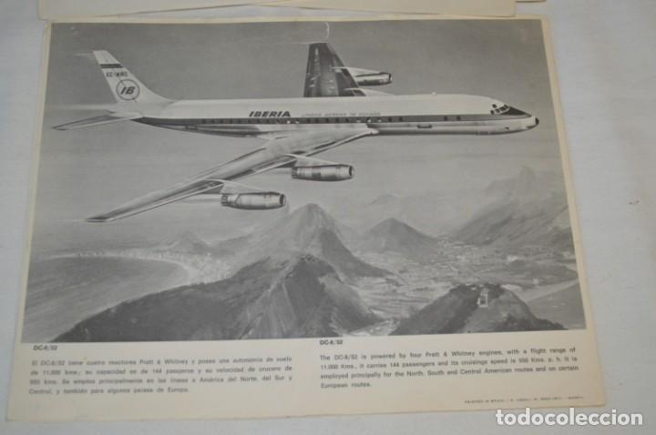Líneas de navegación: IBERIA años 70 - 16 láminas / imágenes diferentes - Colección de AVIONES HISTÓRICOS B/N ¡Mira! - Foto 14 - 209702420