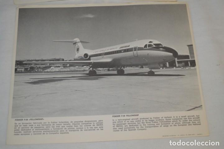 Líneas de navegación: IBERIA años 70 - 16 láminas / imágenes diferentes - Colección de AVIONES HISTÓRICOS B/N ¡Mira! - Foto 15 - 209702420