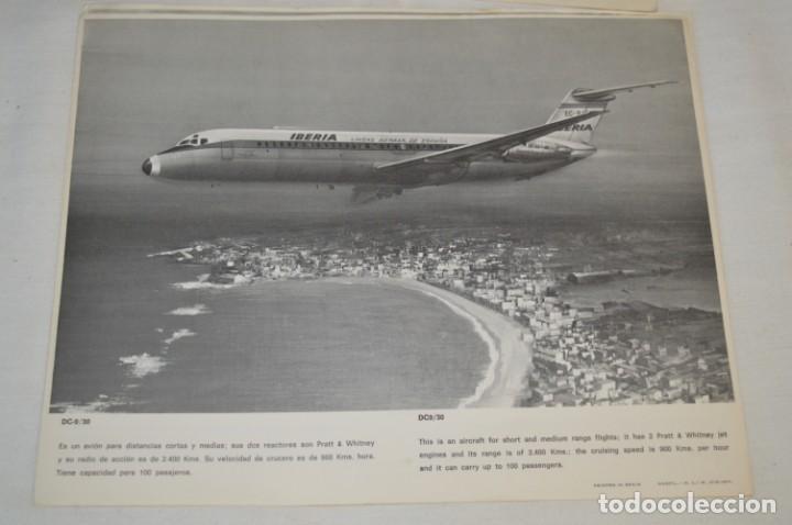Líneas de navegación: IBERIA años 70 - 16 láminas / imágenes diferentes - Colección de AVIONES HISTÓRICOS B/N ¡Mira! - Foto 16 - 209702420