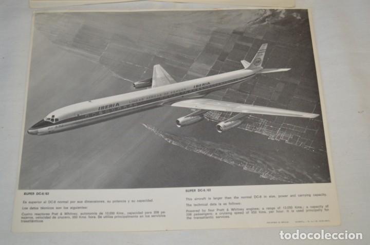 Líneas de navegación: IBERIA años 70 - 16 láminas / imágenes diferentes - Colección de AVIONES HISTÓRICOS B/N ¡Mira! - Foto 17 - 209702420