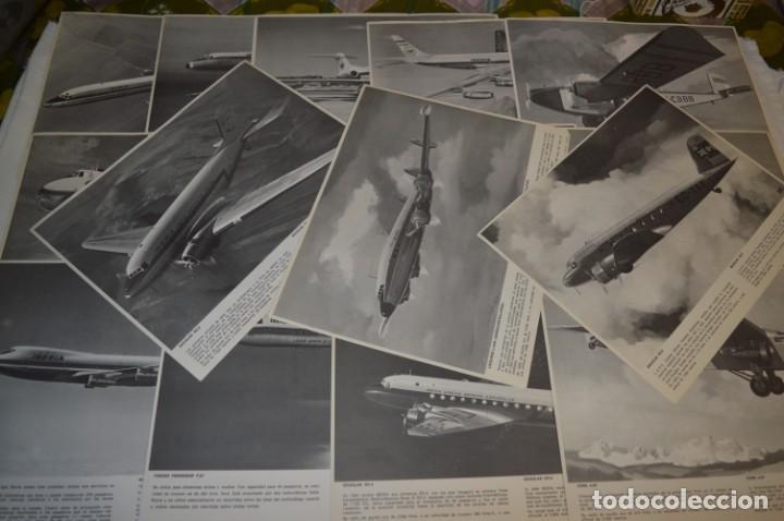 IBERIA AÑOS 70 - 16 LÁMINAS / IMÁGENES DIFERENTES - COLECCIÓN DE AVIONES HISTÓRICOS B/N ¡MIRA! (Coleccionismo - Líneas de Navegación)