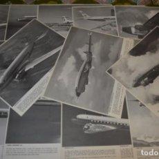 Líneas de navegación: IBERIA AÑOS 70 - 16 LÁMINAS / IMÁGENES DIFERENTES - COLECCIÓN DE AVIONES HISTÓRICOS B/N ¡MIRA!. Lote 209702420