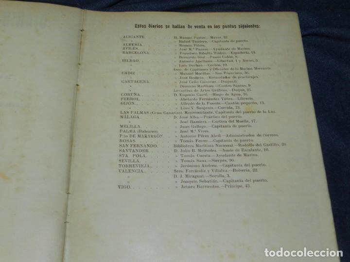 Líneas de navegación: (MF) DIARIO DE NAVEGACION DECLARADO DE UTILIDAD 13 DE AGOSTO 1907, MARINA MERCANTE 1909 - Foto 3 - 210215806