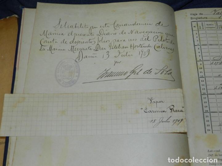 Líneas de navegación: (MF) DIARIO DE NAVEGACION DECLARADO DE UTILIDAD 13 DE AGOSTO 1907, MARINA MERCANTE 1909 - Foto 4 - 210215806