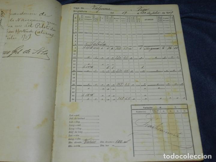 Líneas de navegación: (MF) DIARIO DE NAVEGACION DECLARADO DE UTILIDAD 13 DE AGOSTO 1907, MARINA MERCANTE 1909 - Foto 5 - 210215806