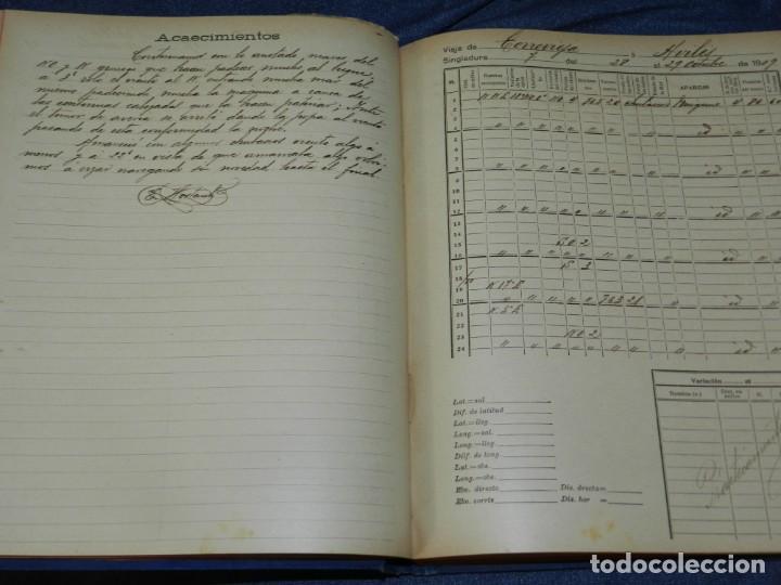 Líneas de navegación: (MF) DIARIO DE NAVEGACION DECLARADO DE UTILIDAD 13 DE AGOSTO 1907, MARINA MERCANTE 1909 - Foto 7 - 210215806