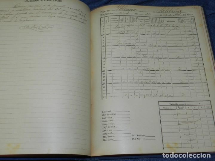 Líneas de navegación: (MF) DIARIO DE NAVEGACION DECLARADO DE UTILIDAD 13 DE AGOSTO 1907, MARINA MERCANTE 1909 - Foto 8 - 210215806