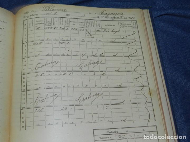 Líneas de navegación: (MF) DIARIO DE NAVEGACION DECLARADO DE UTILIDAD 13 DE AGOSTO 1907, MARINA MERCANTE 1909 - Foto 9 - 210215806