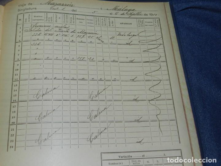 Líneas de navegación: (MF) DIARIO DE NAVEGACION DECLARADO DE UTILIDAD 13 DE AGOSTO 1907, MARINA MERCANTE 1909 - Foto 10 - 210215806