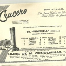 Líneas de navegación: 4024.-LINEAS DE NAVEGACION-CRUCERO EN EL TRASATLANTICO VENEZUELA-ENLACE SS.AA.RR. JUAN CARLOS BORBON. Lote 210951505